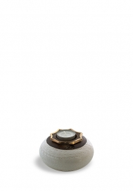 Flora oval white/brown