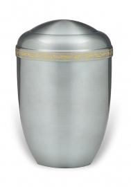 Aluminium urn met sierband