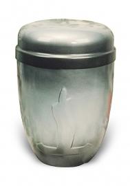 Aluminium urn met fantasie figuur