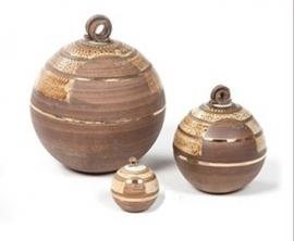 Precious Ceramic Circles brown turquoise