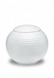Porseleinen urn wit