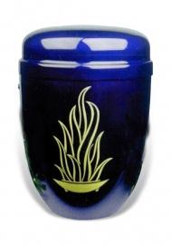 Zwart / blauwe urn