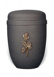 Antraciete urn met roos