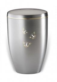 Aluminium urn met vlinders