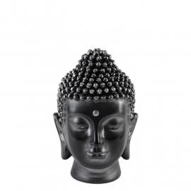 Buddha Head Black Silver S (small)
