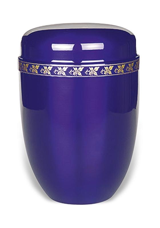 Lila urn met blad motief