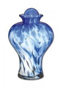 Glazen urn