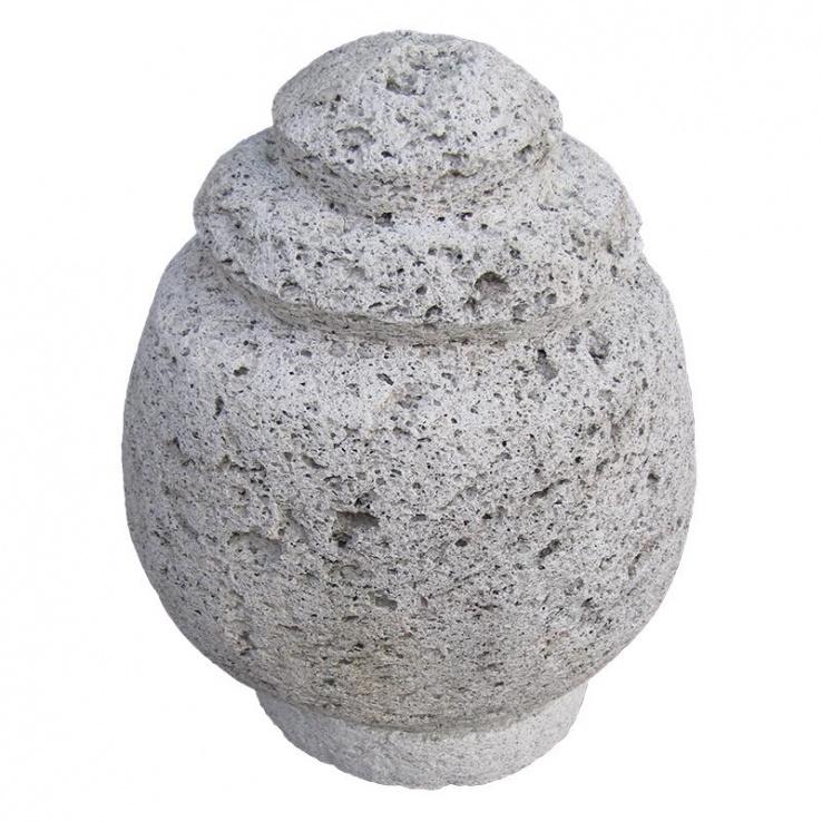 Urn van lavasteen