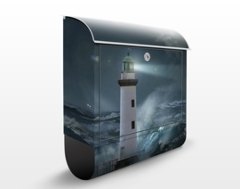 Design Brievenbus Vuurtoren in wilde Zee
