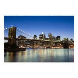 Vlies Fotobehang; Brooklyn Bridge in New York City (vanaf)