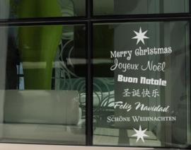Raamsticker Christmas Greetings