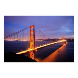 Vlies Fotobehang; Golden Gate Bridge at Night (vanaf)