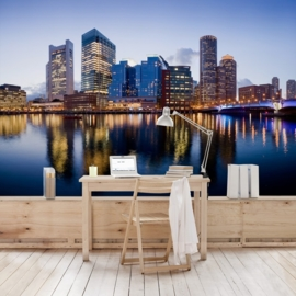 Vlies Fotobehang; Good Night Boston (vanaf)