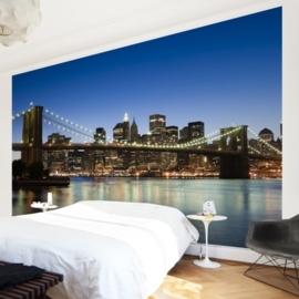 Vlies Fotobehang; Brooklyn Bridge in New York City (vanaf)