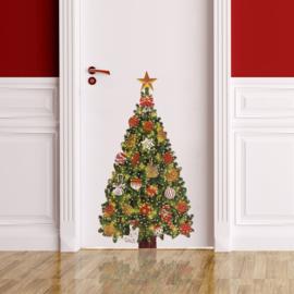 Muur- en raamsticker Kerstboom