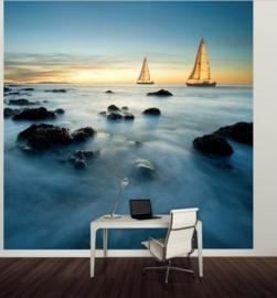 Vlies Fotobehang; Zeilschip in de Oceaan (vanaf)