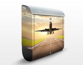 Brievenbus Opstijgend Vliegtuig