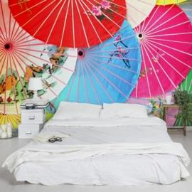 Vliesbehang Chinese Parasols (vanaf)