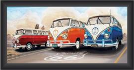Schilderij VW Route 66 40x80 cm