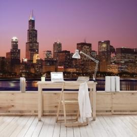 Vlies Fotobehang; Chicago Skyline (vanaf)