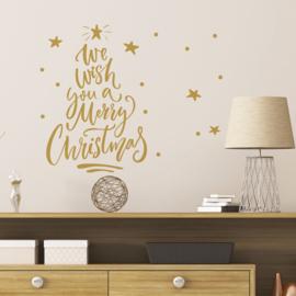 Muur- en raamsticker Merry Christmas