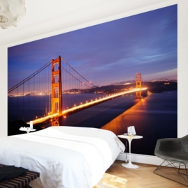 Vlies Fotobehang; Golden Gate Bridge at Night (vanaf)