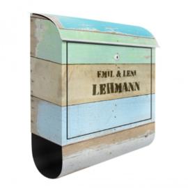 Brievenbus Eigen Tekst Rustic Timber