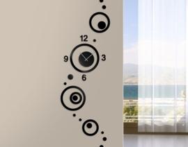 Design Klok; Cirkels Zwart