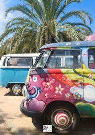 Tuinposter Volkswagen Busje