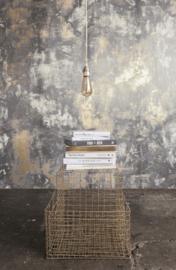 Concrete Ciré Behang 330709, antraciet, zilver en goud