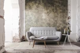Concrete Ciré Behang 330600, goud met antraciet