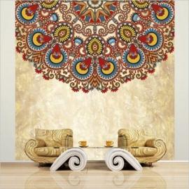 Vlies Fotobehang; Gekleurde Mandala (vanaf)