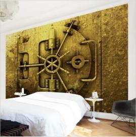 Vliesbehang Golden Safe (vanaf)