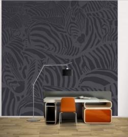 Vlies Fotobehang; Zebrastrepen Zwart (vanaf)