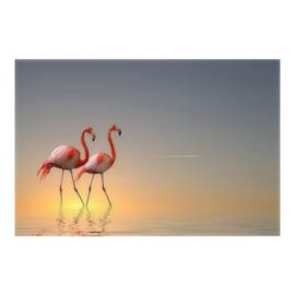 Behang Flamingo Love (vanaf)