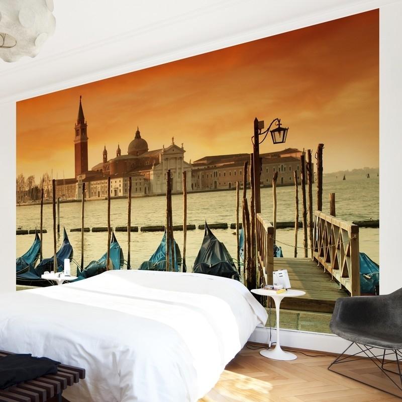 Vlies Fotobehang; Gondels in Venetië (vanaf)