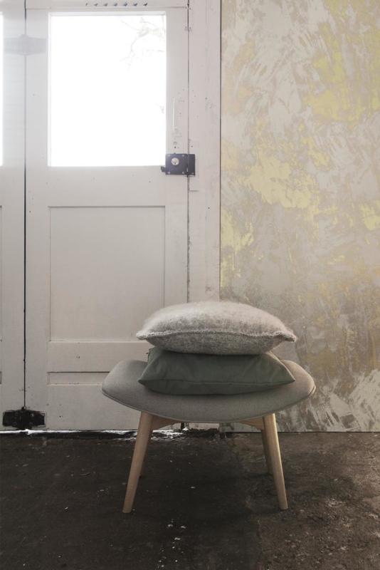 Concrete Ciré Behang 330754, wit met goud