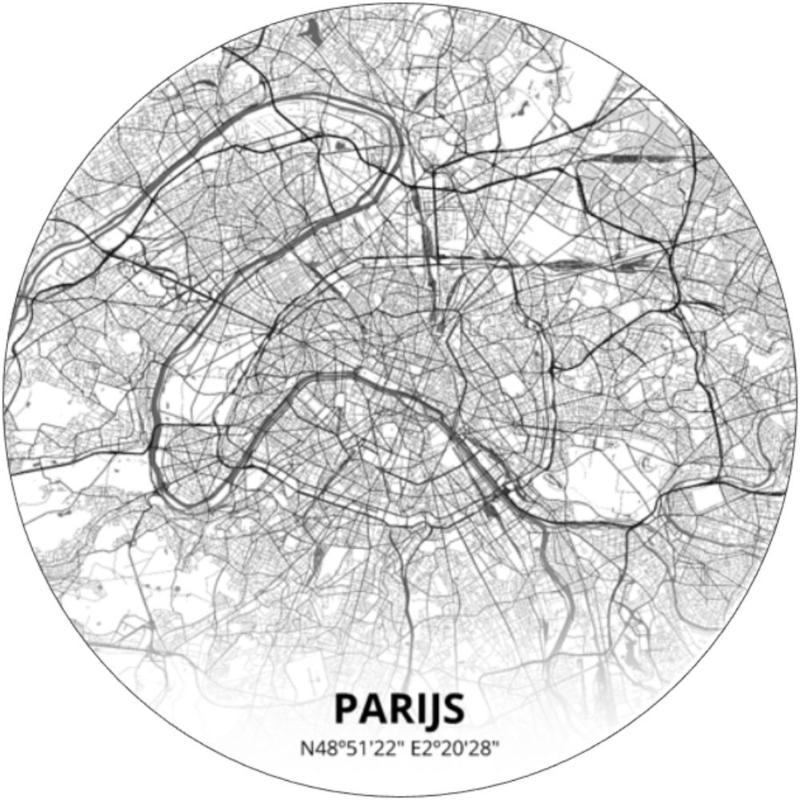 Behangcirkel Parijs