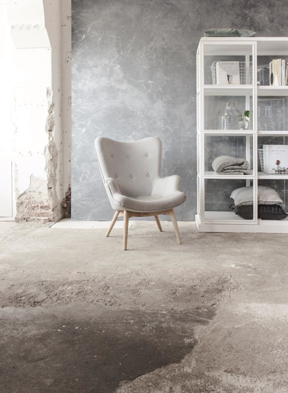 Concrete Ciré Behang 330808, zilver en zilvergrijs