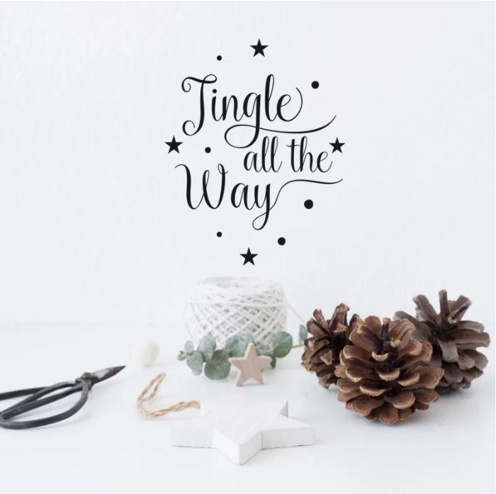 "Tekststicker ""Jingle all the way"""