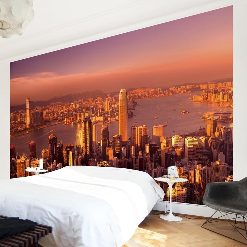 Vlies Fotobehang; Hongkong Sunset (vanaf)