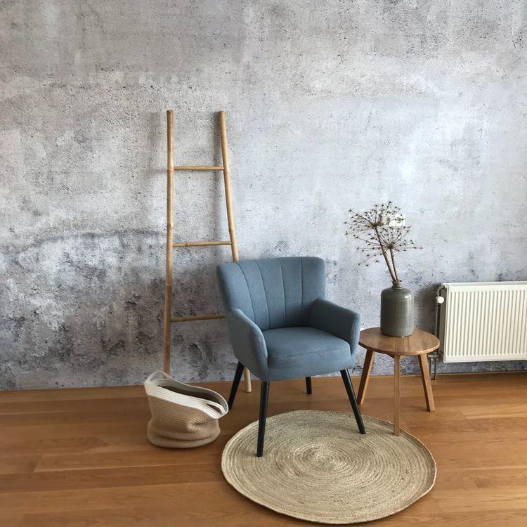 Behang met betonlook