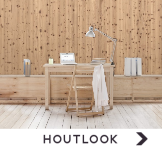 Behang met houtlook