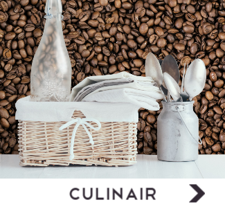 Behang met culinaire prints