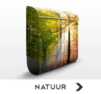Brievenbus met afbeeldingen uit de natuur