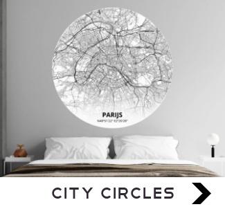 Behangcirkels met plattegrond van stad