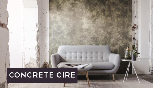 Concrete Cire behang betonlook