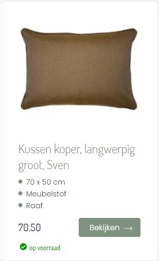 Kussen Sven koper ookinhetpaars