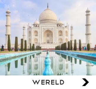 Wanddecoratie met beelden van de wereld