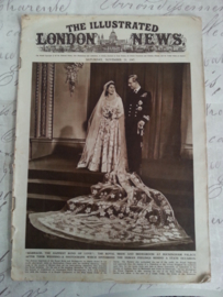 "Oude krant "" The illustrated London News"""